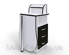 """Маникюрный стол-трансформер M103K """"Эстет компакт №3"""" белый с черными фасадами"""