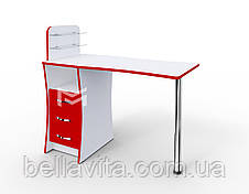 """Маникюрный стол M104 """"Элегант"""" c стеклянными полочками под лак, фото 3"""