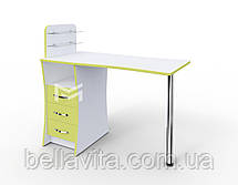 """Маникюрный стол M104 """"Элегант"""" c стеклянными полочками под лак, фото 2"""