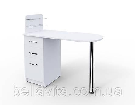 """Маникюрный стол c стеклянными полочками под лак """"Уют"""", фото 2"""