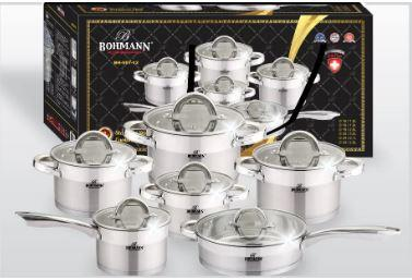 Набор посуды Bohmann из нержавеющей стали, BH 007-12