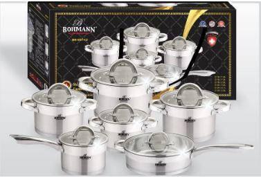 Набор посуды Bohmann из нержавеющей стали, BH 007-12, фото 2