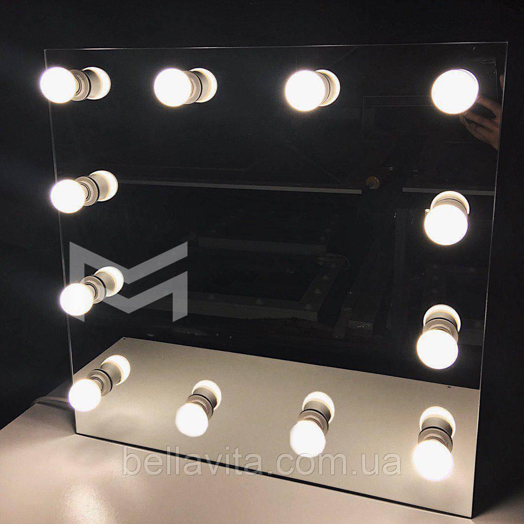 Дзеркало LIBER з врізними лапочка в дзеркалі 60х60 см