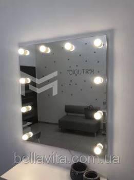 Підвісне дзеркало з підсвічуванням FONS без рами 90х90 см, фото 2