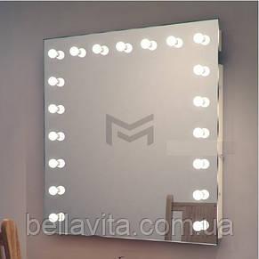 Подвесное зеркало с подсветкой FONS без рамы 90х90 см, фото 2