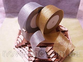 Ленты парча 4 см серебро, золото
