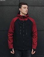 Куртка Staff soft shell black & red. [Размеры в наличии: XS,S,M,L,XL,XXL]