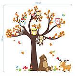 """Детская виниловая наклейка на стену , в детскую комнату  """"Лесной сад"""" (v3739), фото 5"""