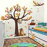 """Детская виниловая наклейка на стену , в детскую комнату  """"Лесной сад"""" (v3739), фото 3"""
