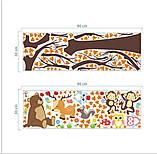 """Детская виниловая наклейка на стену , в детскую комнату  """"Лесной сад"""" (v3739), фото 2"""