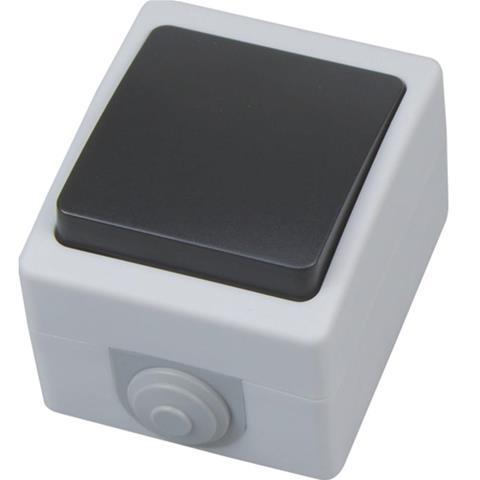 Выключатель накладной одноклавишный  IP54 Atom Horoz Electric 112-100-0004