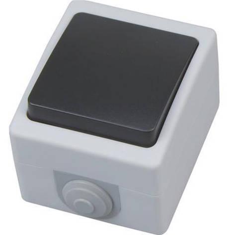Выключатель накладной одноклавишный  IP54 Atom Horoz Electric 112-100-0004, фото 2