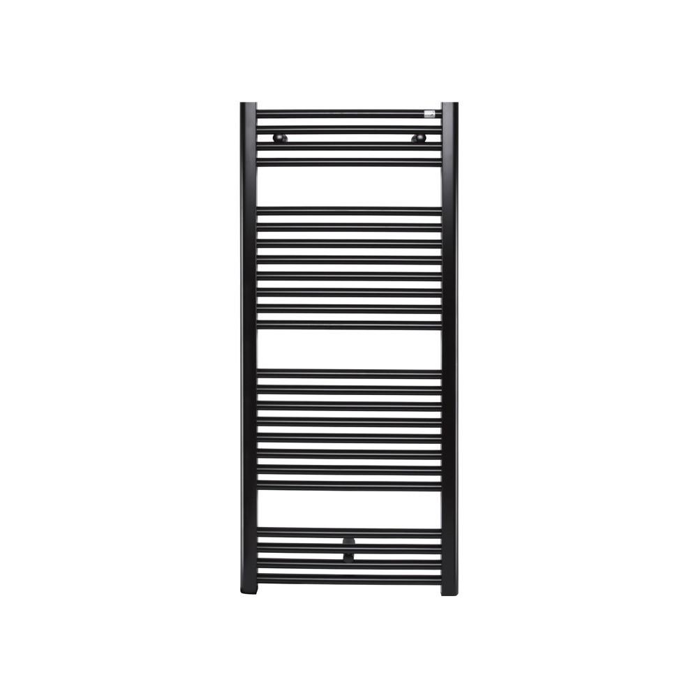 Немецкий водяной полотенцесушитель Zehnder Virando 500 x 1226, черный матовый