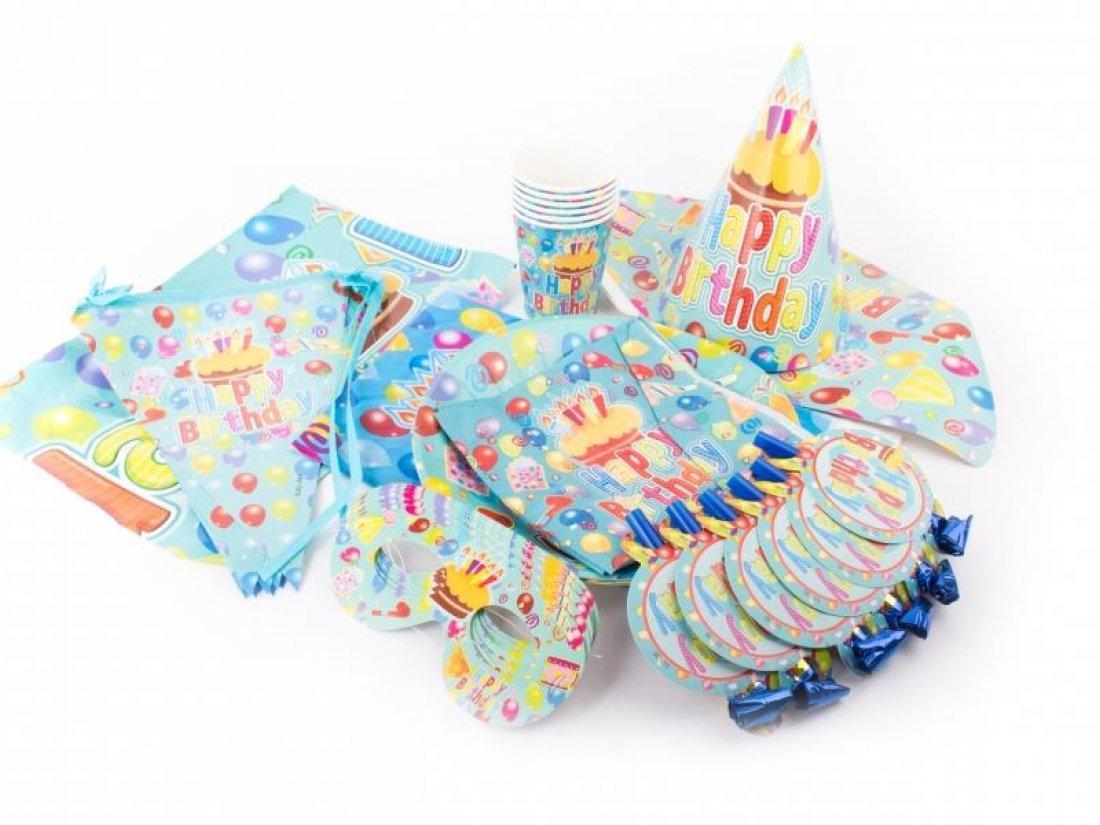 """Набор детской посуды на 6 персон """"Happy BIRTHDAY"""""""