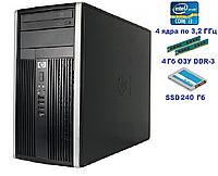Системный блок, компьютер, Intel Core i3 2120, 4 ядра по 3,2 ГГц, 4 Гб ОЗУ DDR-3, SSD 240 Гб, фото 1