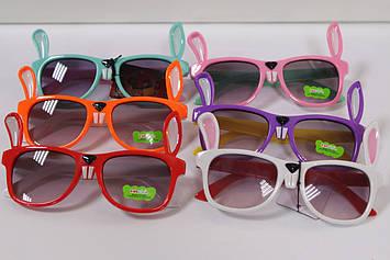 Дитячі сонцезахисні окуляри з вушками кролика 1 шт.