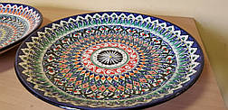 Узбекские ляганы (тарелки) из Риштанской керамики 42см, фото 3