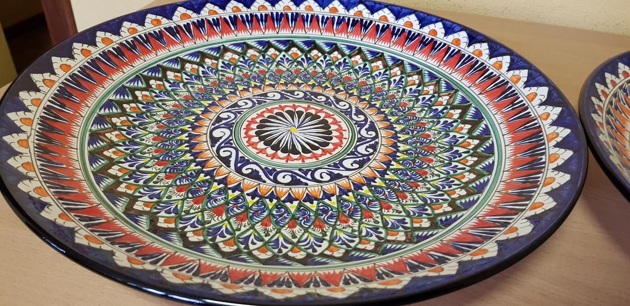 Узбекские ляганы (тарелки) из Риштанской керамики 42см
