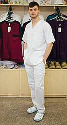 Медицинский костюм хирурга мужской Белый