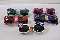Модные детские солнцезащитные очки китти с бантиком 1 шт