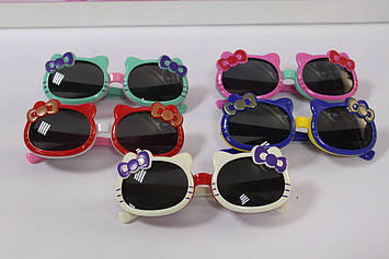 Модні дитячі сонцезахисні окуляри кітті з бантиком 1 шт