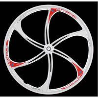 """Велосипедные литые диски Automotive 26""""-6 2 шт Белые"""