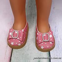 Туфли с бантиком розовые звездочки для кукол Паола Рейна
