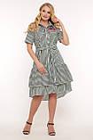 Платье летнее Кэт зеленая полоска, фото 4