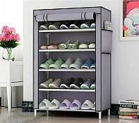 Стеллаж для хранения обуви Combination Shoe Frame 60X30X90 Серый! Хит продаж