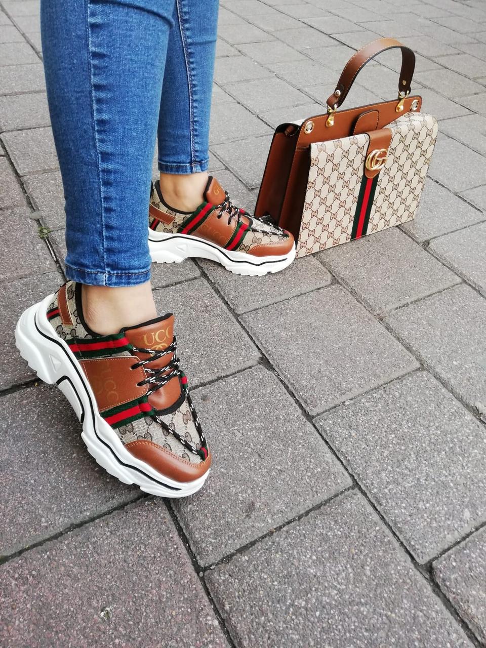 Комплект женская Сумка, кроссовки бренд