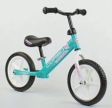"""Велобіг від """"CORSO"""" 17008 сталева рама, колесо 12"""" EVA (ПІНА), бірюзовий"""