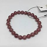 Браслет натуральный черри кварц браслет из натурального черри кварца вишневый кварц, фото 3