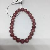 Браслет натуральный черри кварц браслет из натурального черри кварца вишневый кварц, фото 5