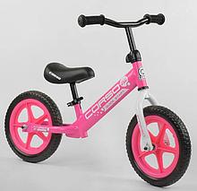 """Велобіг від """"CORSO"""" 21001 сталева рама, колесо 12"""" EVA (ПІНА), рожевий"""