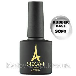 SEZAVI Rubber Base SOFT Каучуковая основа (база) c УФ фильтром для гель-лака, 8ml