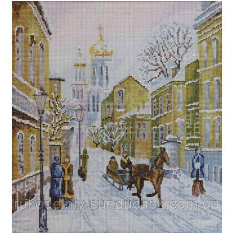 Набор для вышивания крестом ТМ Марья Искусница 02.007.01 Зимняя улочка