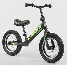 """Велобіг від """"CORSO"""" 36906 сталева рама, колесо 12"""" надувні колеса, чорний"""