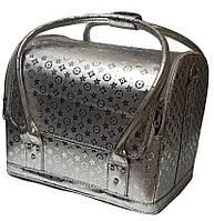 Сумка-чемодан для мастера маникюра, парикмахера и визажиста YRE-2700-1 (серебро)