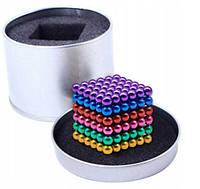 Цветной Неокуб радуга Оригинал Neocube Rainbow mix colour 216 шариков 5мм в боксе! Хит продаж