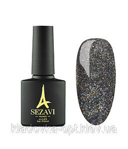 Гель-лак Sezavi Haute Couture №HC100 (черный, c голографическим микроблеском), 8мл