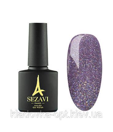 Гель-лак Sezavi Haute Couture №HC120 (темно-сиреневый, микроблеск), 8мл, фото 2