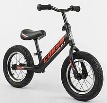 """Велобіг від """"CORSO"""" 42812 сталева рама, колесо 12"""" надувні колеса, чорний"""