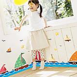 """Вінілова наклейка у ванну, на стіну , для дитячого садка , в дитячу кімнату """"Кораблики"""" (v4587), фото 2"""