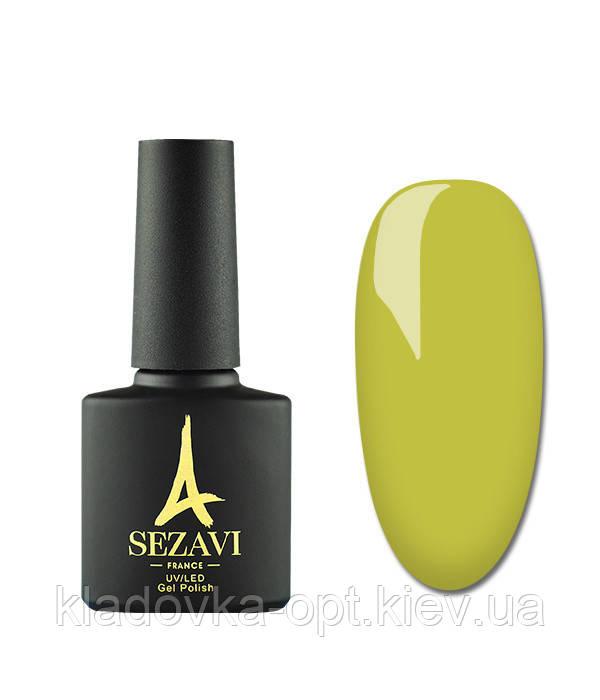 Гель-лак Sezavi Macaron №MC140 (яркий желтый зеленый, эмаль), 8мл