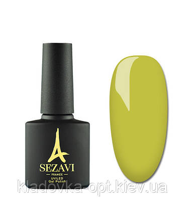 Гель-лак Sezavi Macaron №MC140 (яркий желтый зеленый, эмаль), 8мл, фото 2