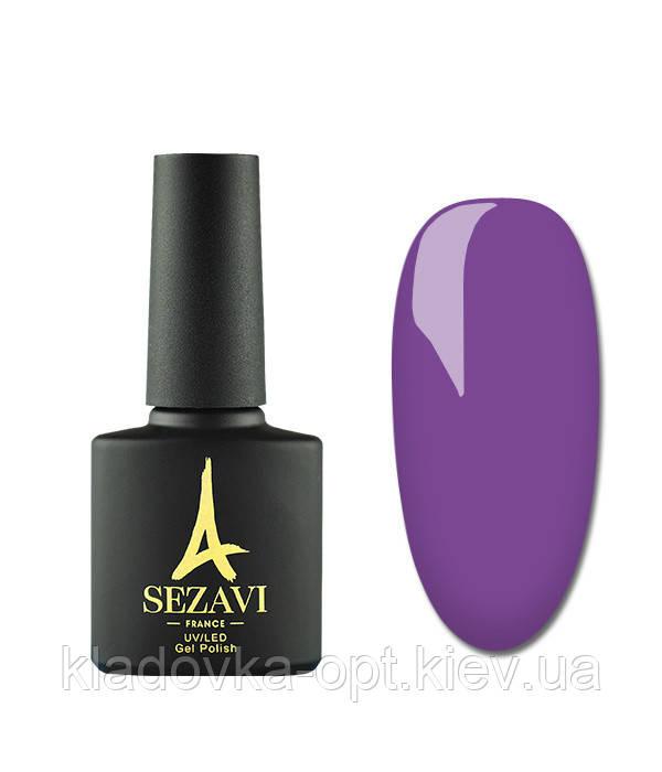 Гель-лак Sezavi Macaron №MC210 (фиолетовый неон, эмаль), 8мл