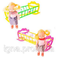 Кроватка с куклой 22*12*10  МГ 135, в сетке MaxGroup