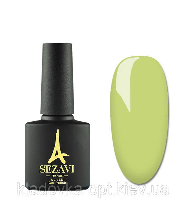 Гель-лак Sezavi Vert №VR50 (салатово-зеленый, эмаль), 8мл