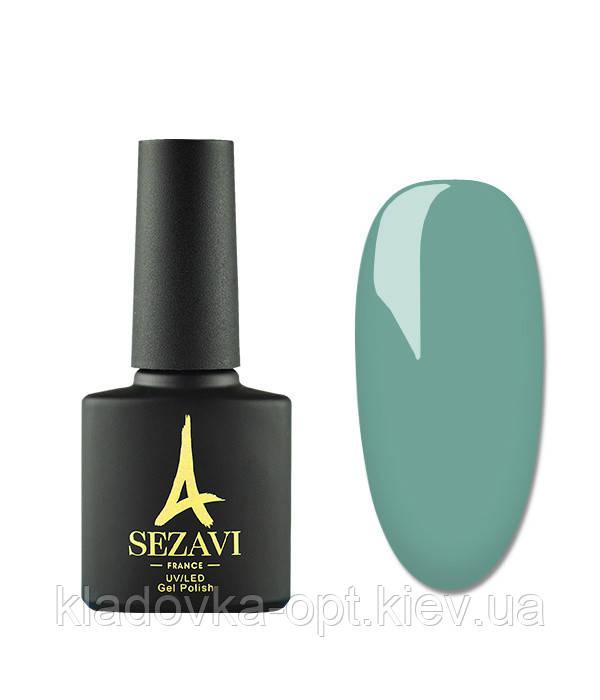 Гель-лак Sezavi Vert №VR90 (изумрудный, эмаль), 8мл