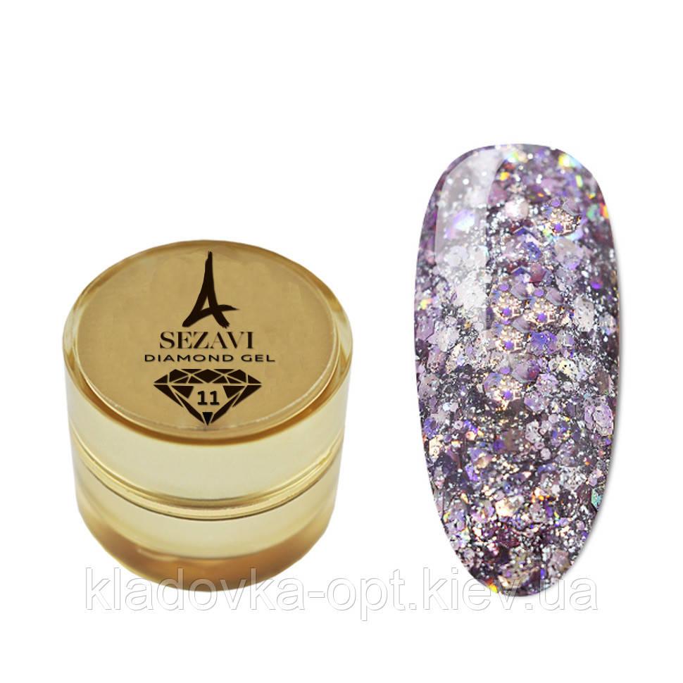 Жидкие блестки SEZAVI Diamond №11 (сиреневый), 5g